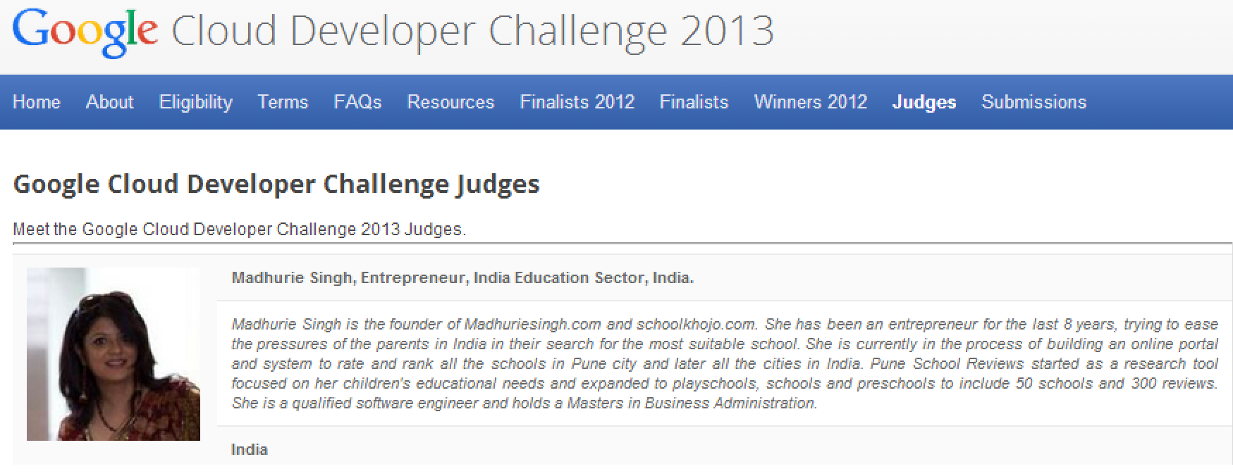 Judge-Google-cloud-developer-apps-2013