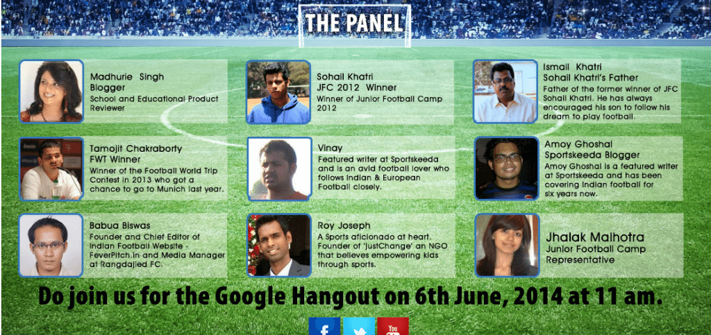 Madhurie Singh on panel discussion of Indian football