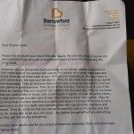 Letter from a principal to a small child about his report card