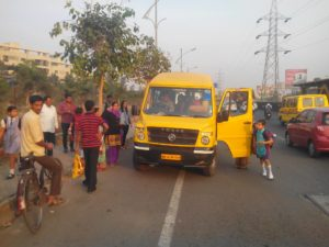 Transport Safety issue with Wisdom World Wakad Pune