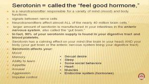 Serotonin is good to cure depression